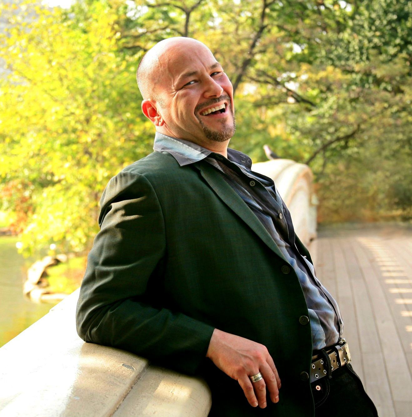 Singer/Actor Philip Paul Kelly in Central Park, New York