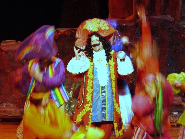 "Singer/Actor Philip Paul Kelly as Captain Hook in ""Peter Pan The Musical."""