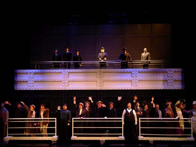 """The Cast of """"Titanic The Musical"""" with Philip Paul Kelly as J. Bruce Ismay"""