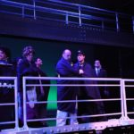 """Singer/Actor Philip Paul Kelly as J. Bruce Ismay on stage in """"Titanic The Musical"""" after the tragic sinking."""