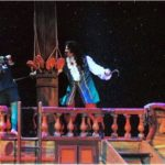 """Philip Paul Kelly as Captian Hook having a sword fight with Peter, in """"Peter Pan The Musical."""""""