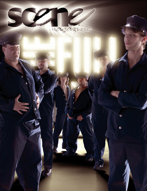 """Philip Paul Kelly and the cast of """"The Full Monty."""""""