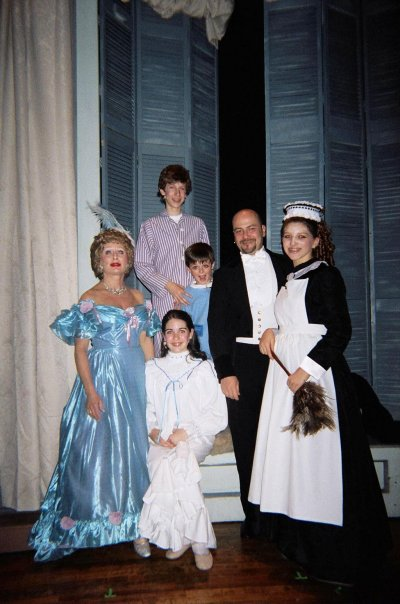"""PhilipPaulKelly as Mr. Darling with Family in """"Peter Pan The Musical."""""""
