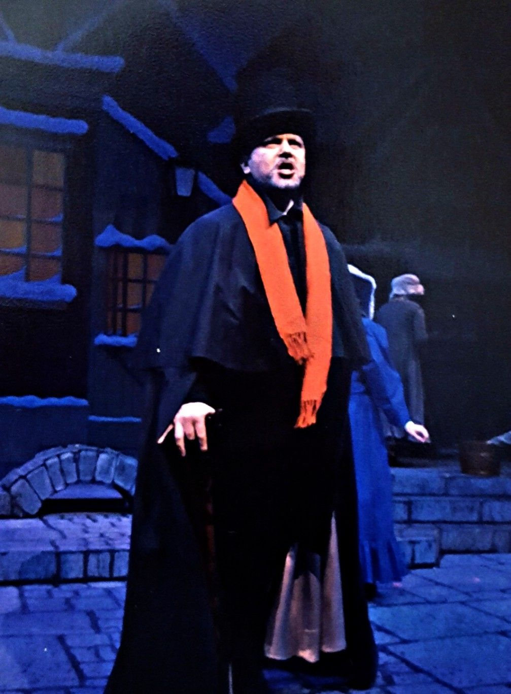 """Philip Paul Kelly as """"Ebenezer Scrooge"""" in a scene from """" A Christmas Carol."""""""