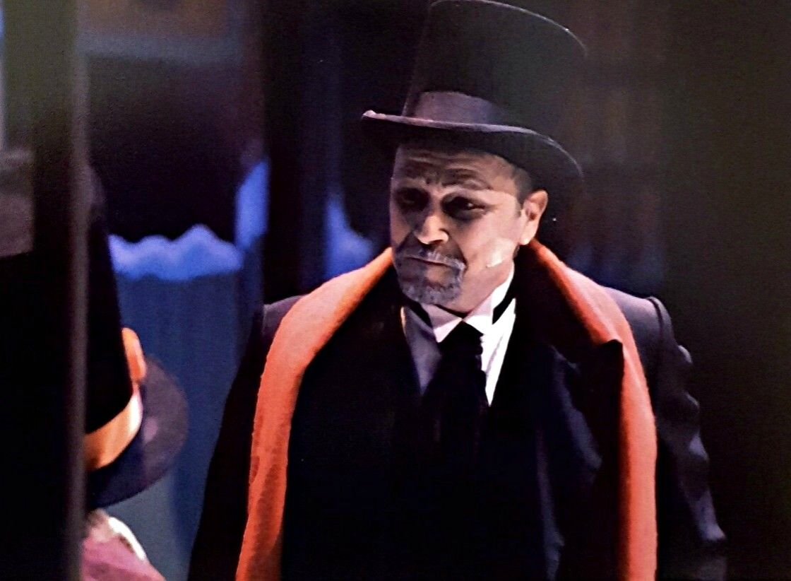 "Philip Paul Kelly as ""Ebenezer Scrooge"" in "" A Christmas Carol."""