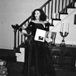 """Philip Paul Kelly as Bette Davis, host of the """"Heroes Benefit"""" at the Triad Theater in New York."""